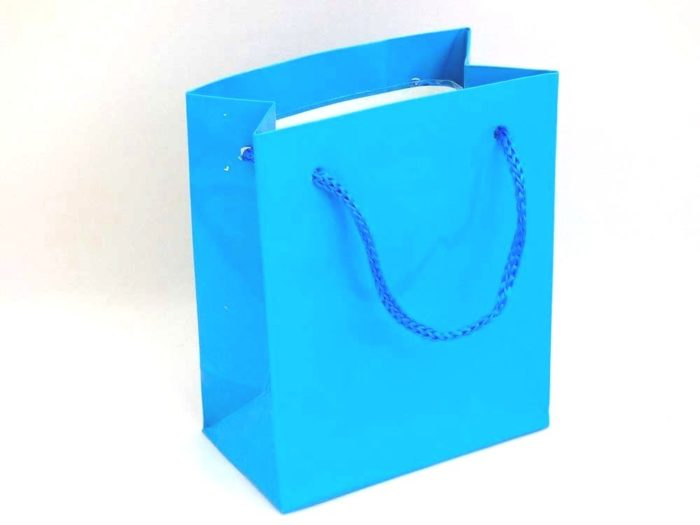 Mini Gloss Turquoise Gift Bag (11x9x5)