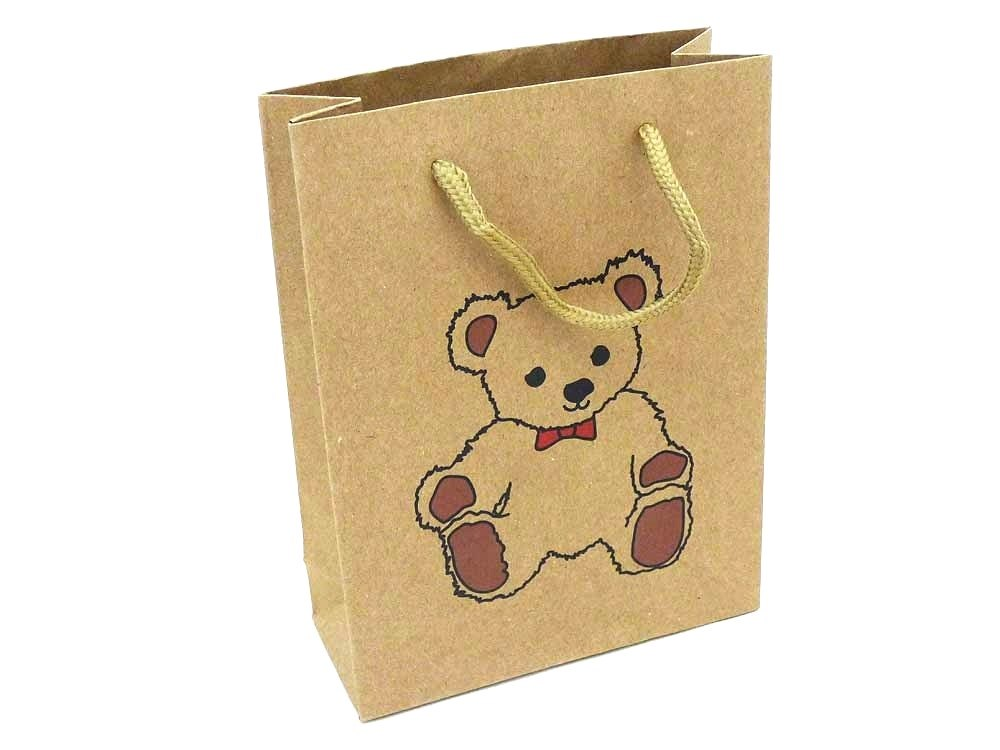 Teddy Bear Kraft Gift Bag