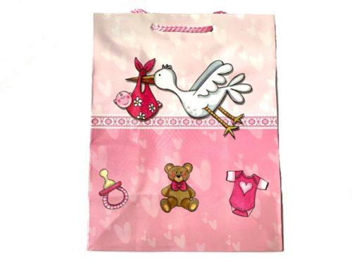 Pink Stork Baby Gift Bag