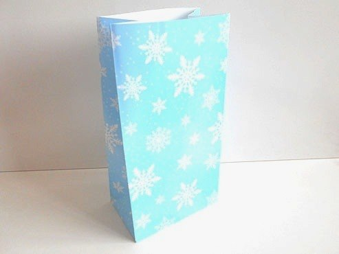 Snowflake Paper Party Bag (25x13x8)