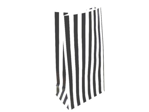 Black Candy Stripe Paper Bag