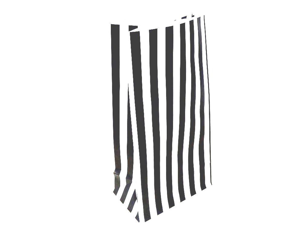 Black Candy Stripe Paper Bag