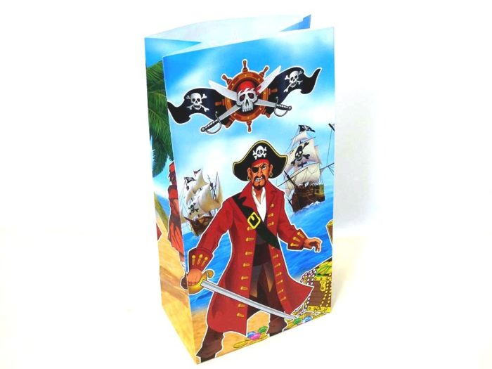 Pirate Paper Party Bag (25x13x8)