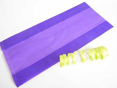Clear Purple Cellophane Bag