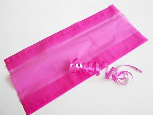 Clear Pink Cellophane Bag