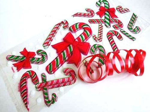 Christmas Candy Cane Cellophane Bag
