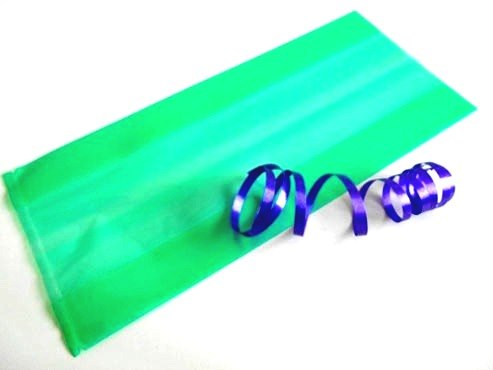 Clear Forest Green Cellophane Bag