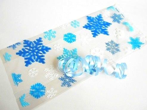 Blue Snowflakes Cellophane Bag