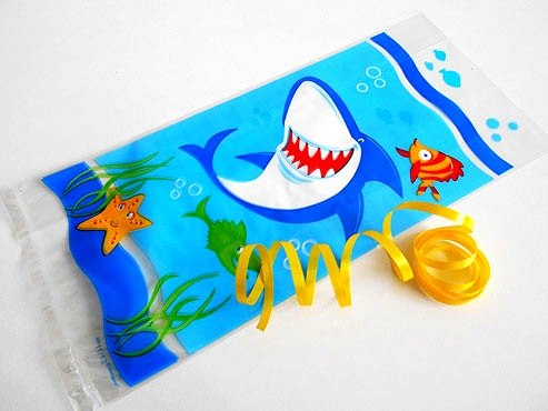 Smiley Shark Cellophane Bag
