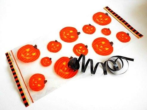Pumpkin Cellophane Bag