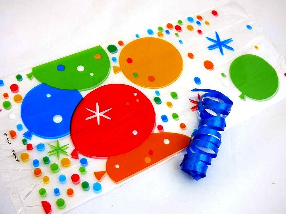 Bright Balloons Cellophane Bag
