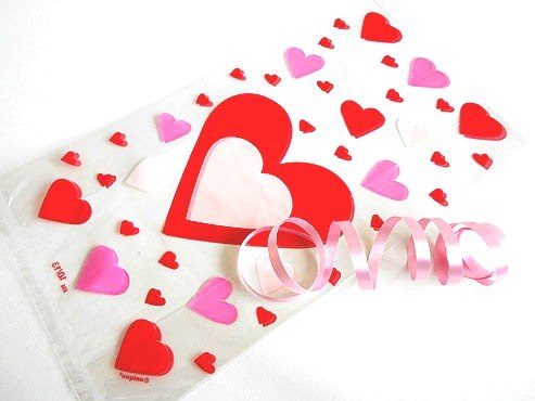 Just Hearts Cellophane Bag