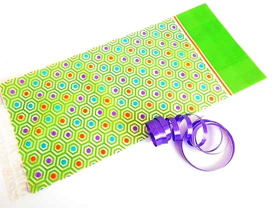 Lime Geometric Dot Cellophane Bag