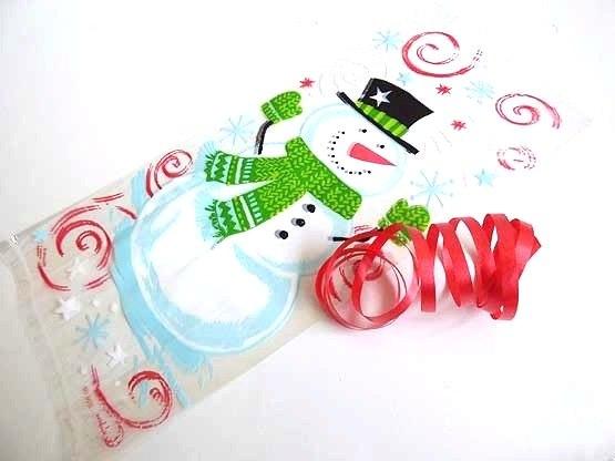 Snowman Swirl Cellophane Bag