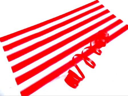 Red Stripe Cello Party Bag