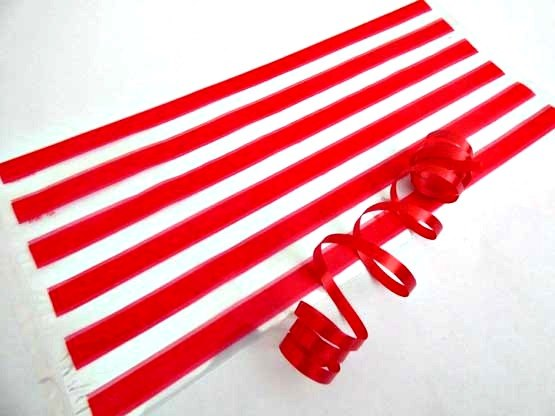 Red Stripe Cellophane Party Bag