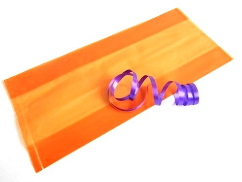 Clear Orange Cellophane Bag