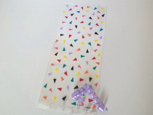 Triangle Confetti Cellophane Bag