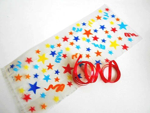 Stars and Streamers Cellophane Bag