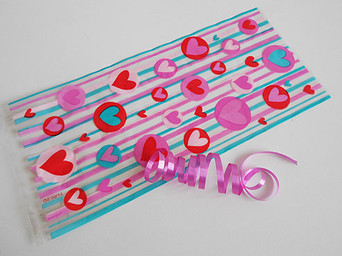 Heart Cellophane Bag