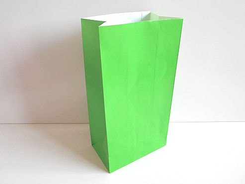 Emerald Green Paper Party Bag 26x13x9)