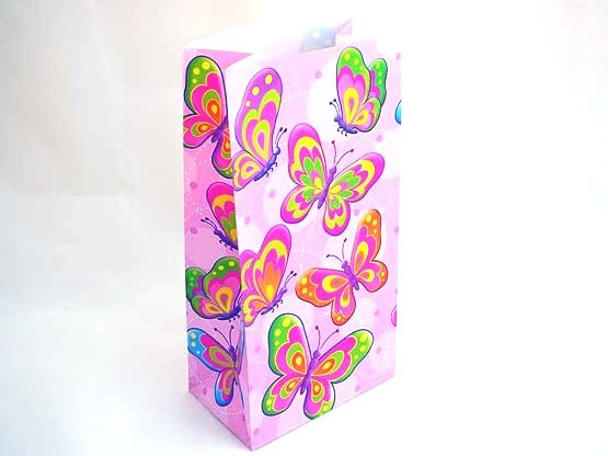 Butterfly Paper Party Bag (25x13x8)