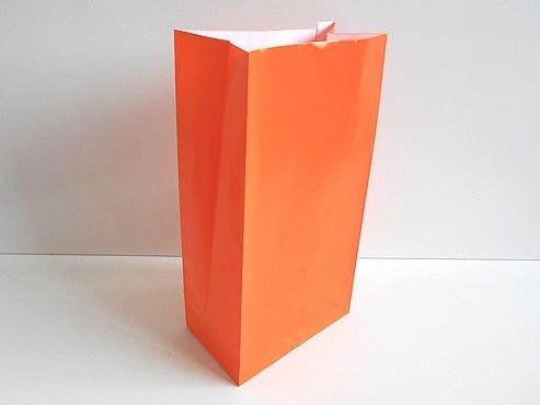Bright Orange Paper Party Bag