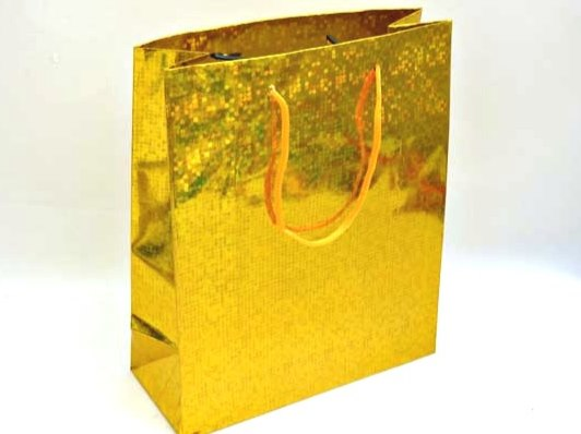 Large Holographic Gold Gift Bag