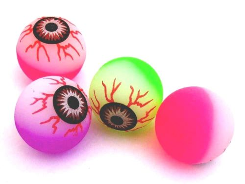 Glow in the Dark Eye Ball Jet Ball