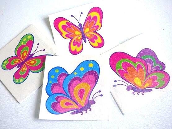 Single Glitter Butterfly  Tattoo