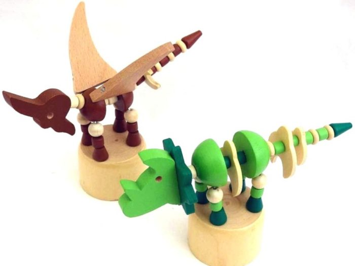 Wooden Dinosaur Push-Up Toy