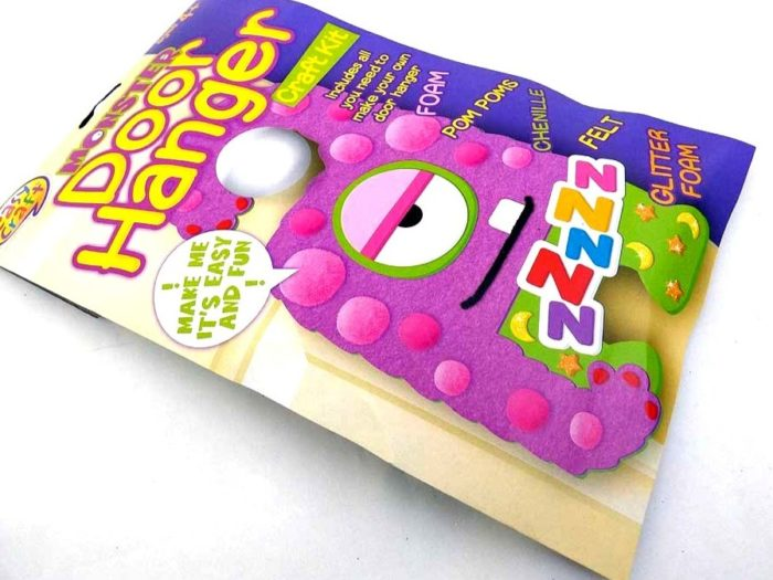 Easy Craft - PURPLE MONSTER DOOR HANGER