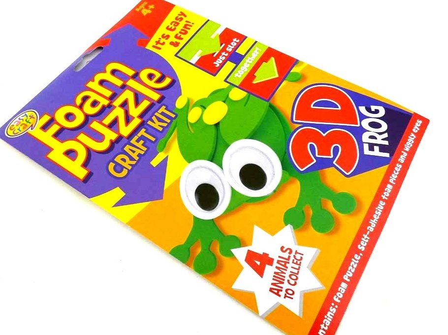 Easy Craft Kit -3D Foam Puzzle - FROG