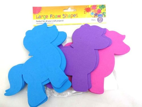 10 Large Foam Shapes - PONIES