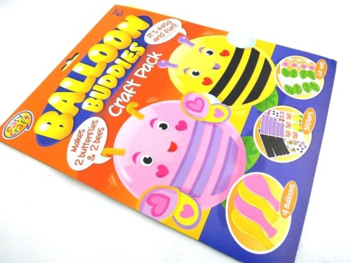 Easy Craft Kit - 4 Balloon Buddies - BUTTERFLIES & BEES