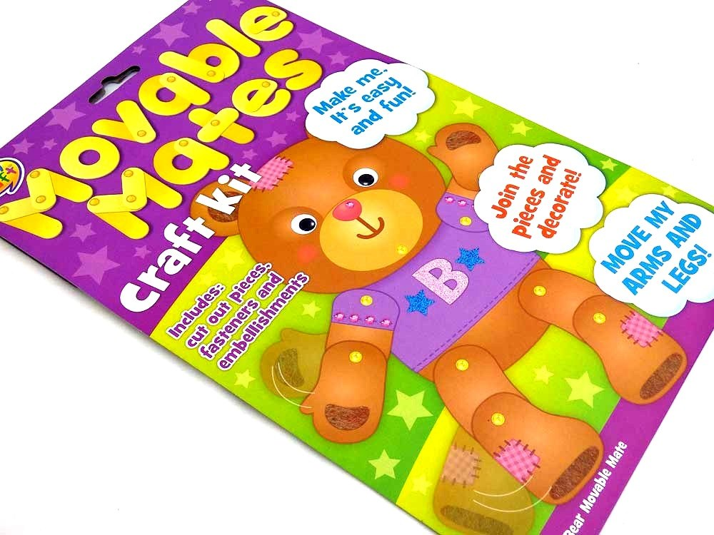Easy Craft Kit - Movable Mates - TEDDY