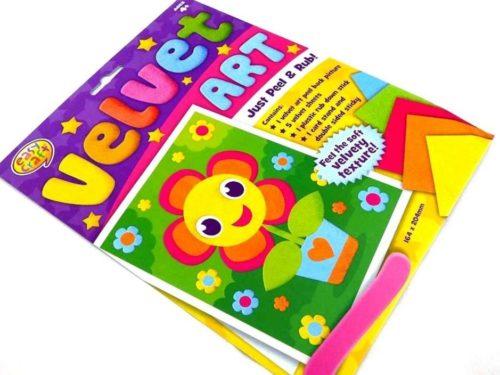 Easy Craft Kit - Velvet Art - SMILEY FLOWER