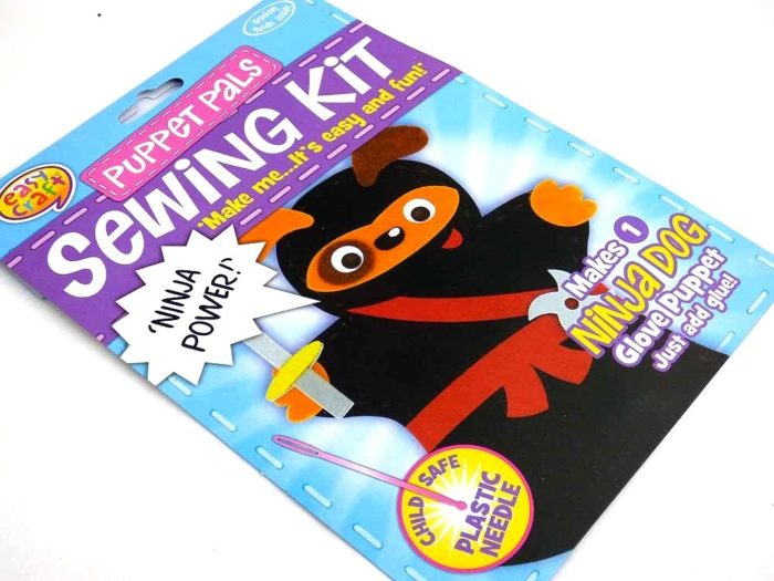 Easy Craft - Puppet Pals Sewing Kit - NINJA DOG