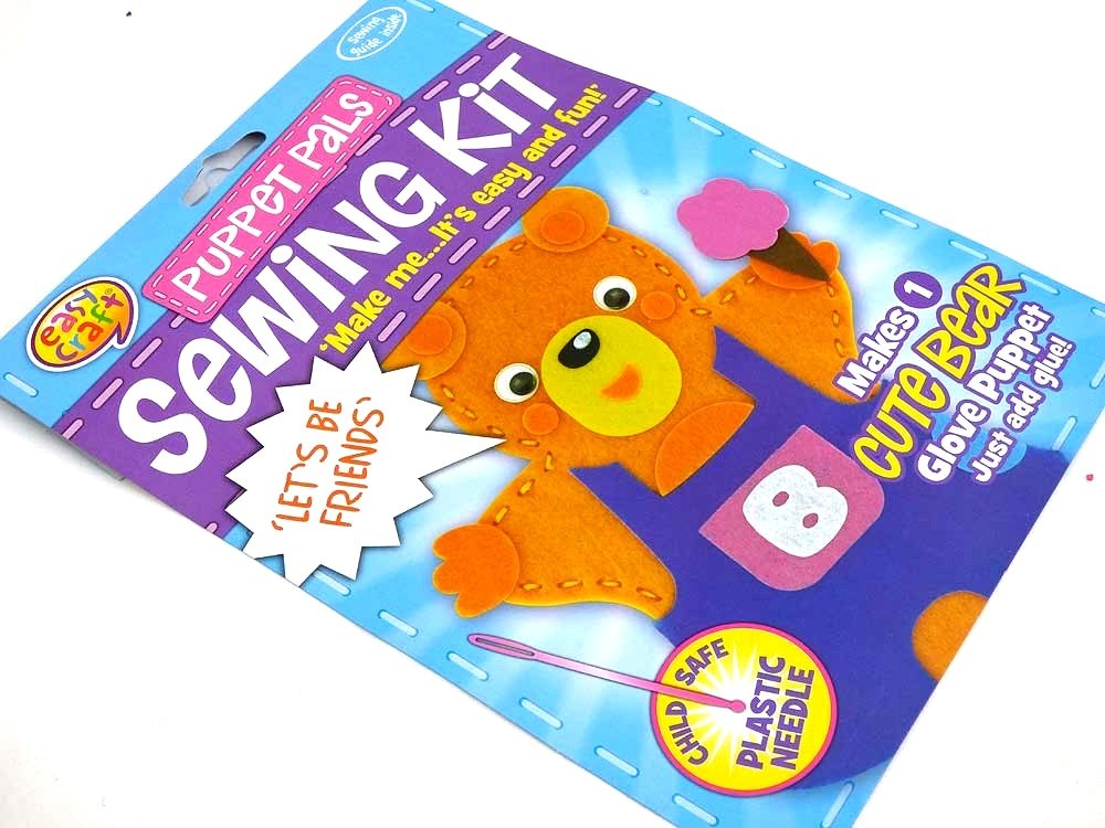 Easy Craft - Puppet Pals Sewing Kit - CUTE BEAR