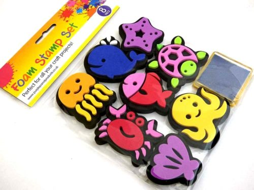 Foam Stamps Kit - SEA ANIMALS