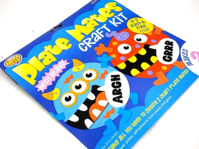 Easy Craft Kit - Plate Mates - MONSTERS