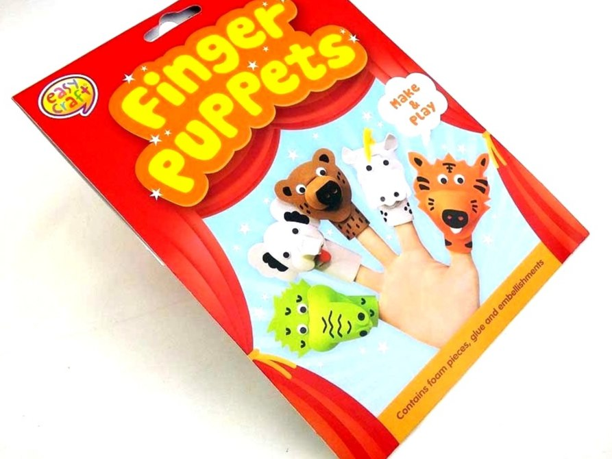 Easy Craft Kit - Foam Finger Puppets - JUNGLE