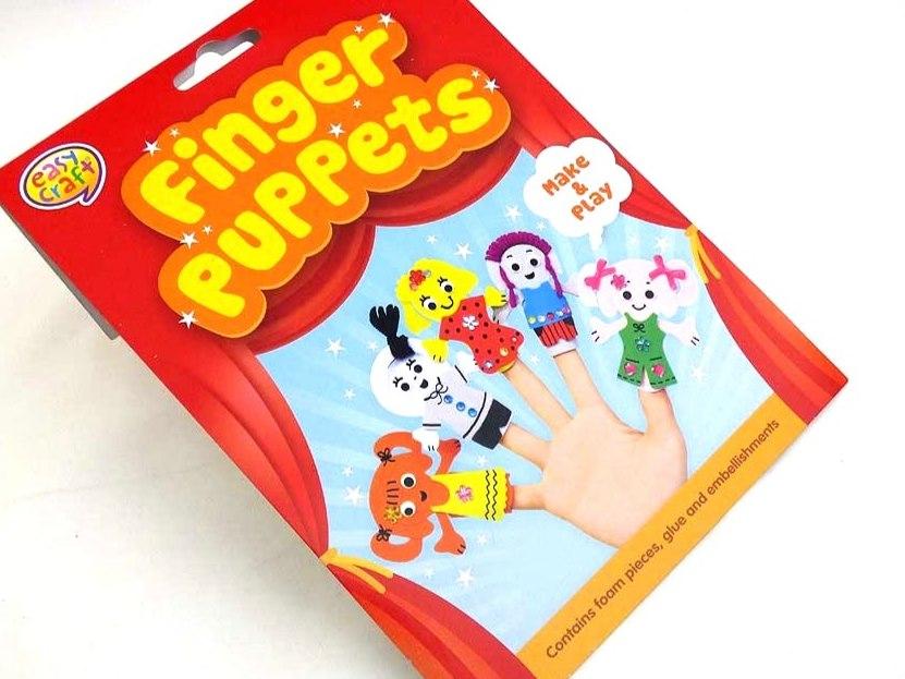 Easy Craft Kit - Foam Finger Puppets - LITTLE GIRLS