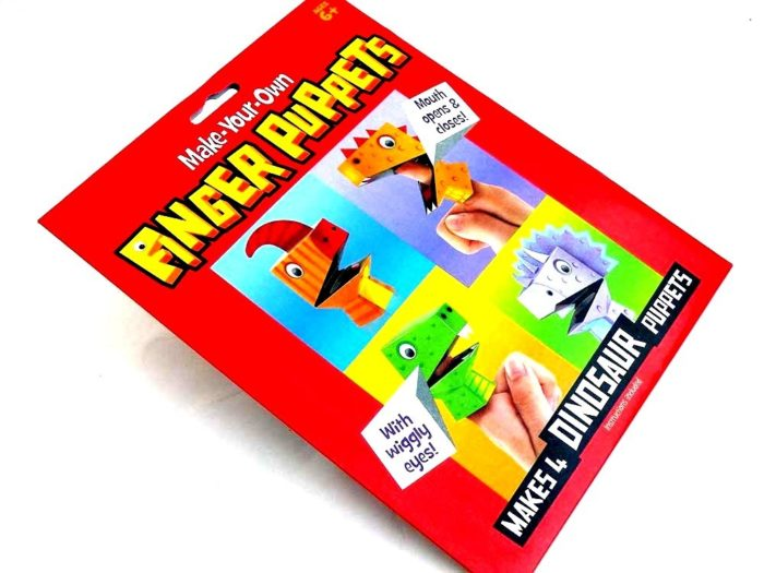 Moving Mouth Finger Puppets Kit - DINOSAUR