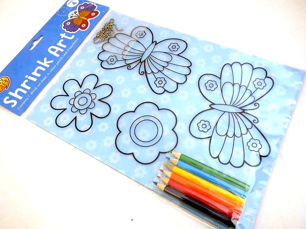 Butterflies - Easy Craft Shrink Art Kit