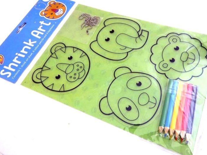 Jungle Animals - Easy Craft Shrink Art Kit