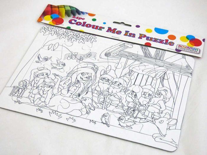 Colour Me In Puzzle - Snow White