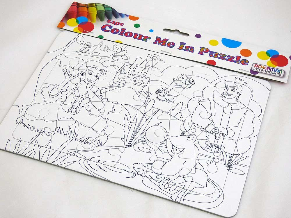 Colour Me In Puzzle - Frog Prince