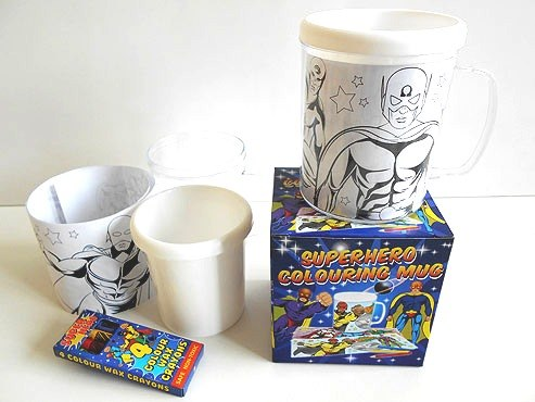 Super Hero Colouring Mug