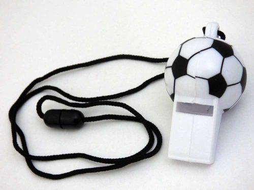 Football Whistle on Lanyard